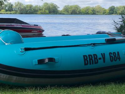 VERKAUFT! TAKACAT T 340 LX Colour Lake Blue inkl. Slipräder