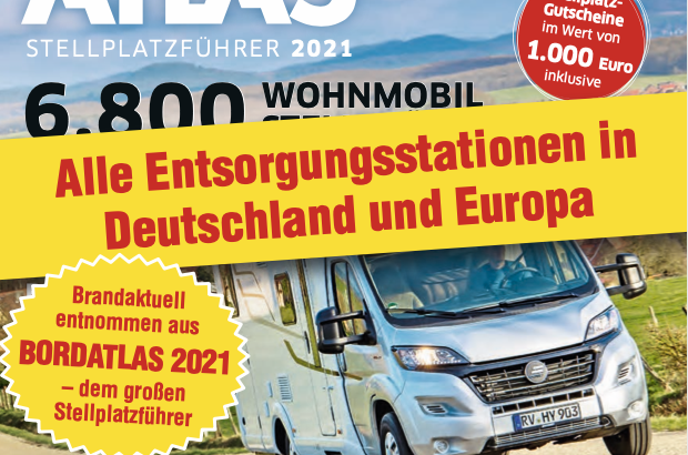 Entsorgungsstationen in Europa Stand 2021 – Bordatlas 2021